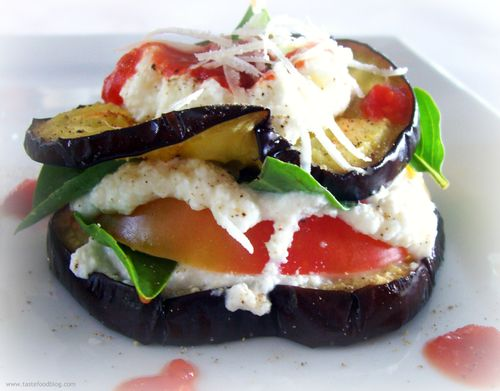 Aubergine Heirloom Tomato Sandwich
