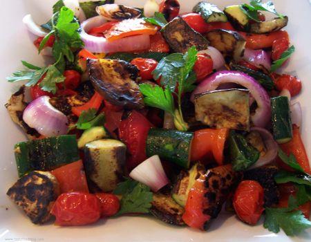 Grilled Ratatouille Salad - TasteFood